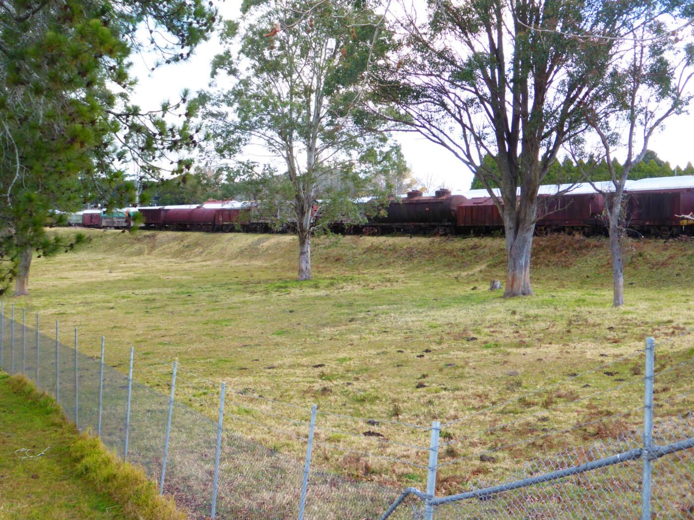 Train carriages at Dorrigo 2021