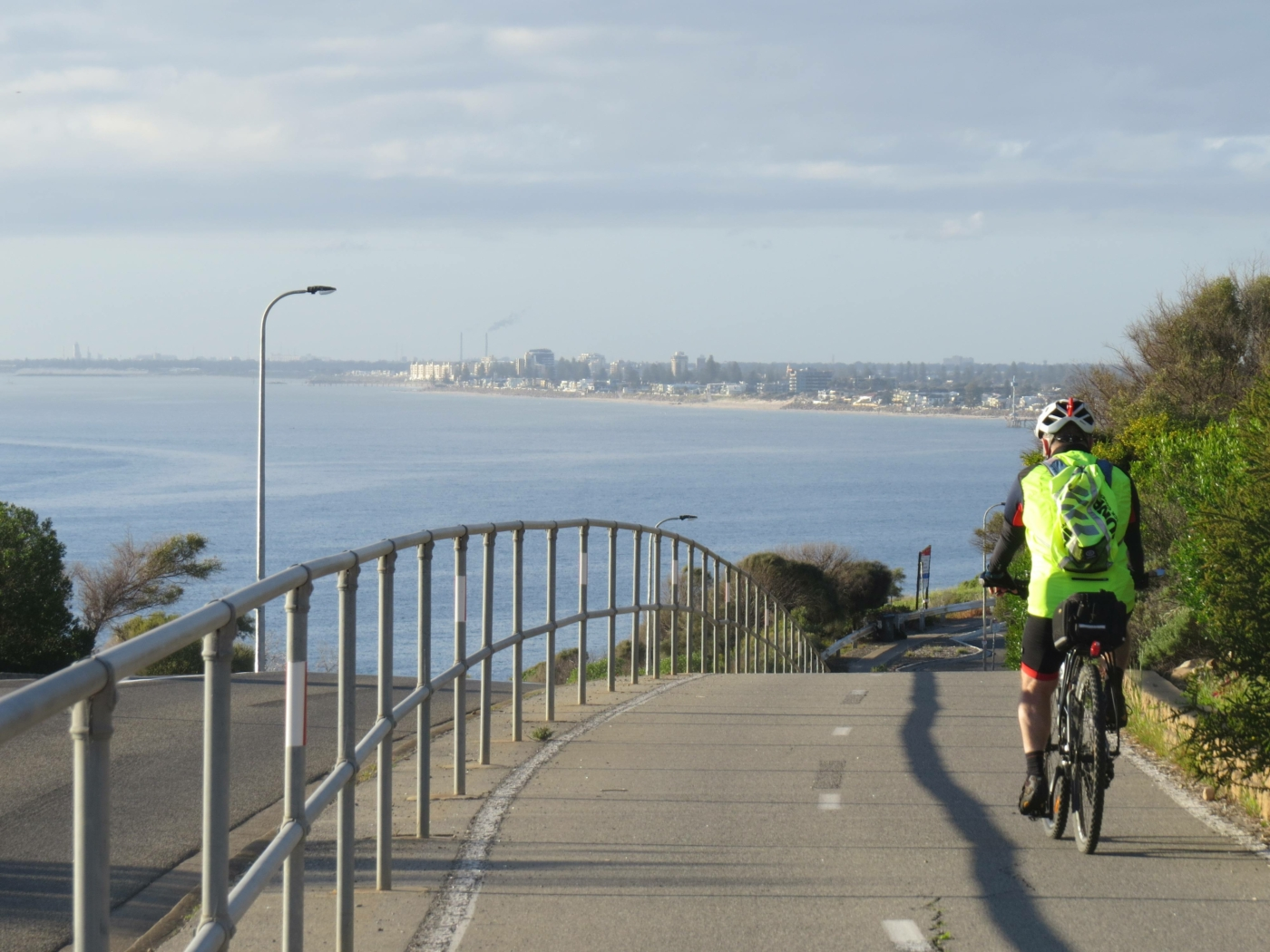 Hallett Cove ocean views with Adelaide in the distance 2020