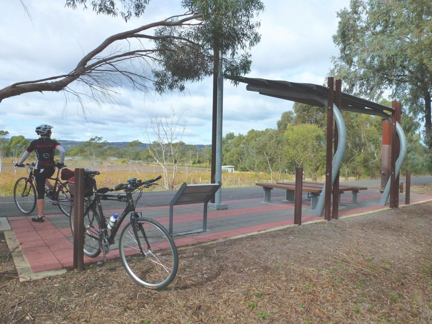 rest area between McLaren Vale and Willunga 2020