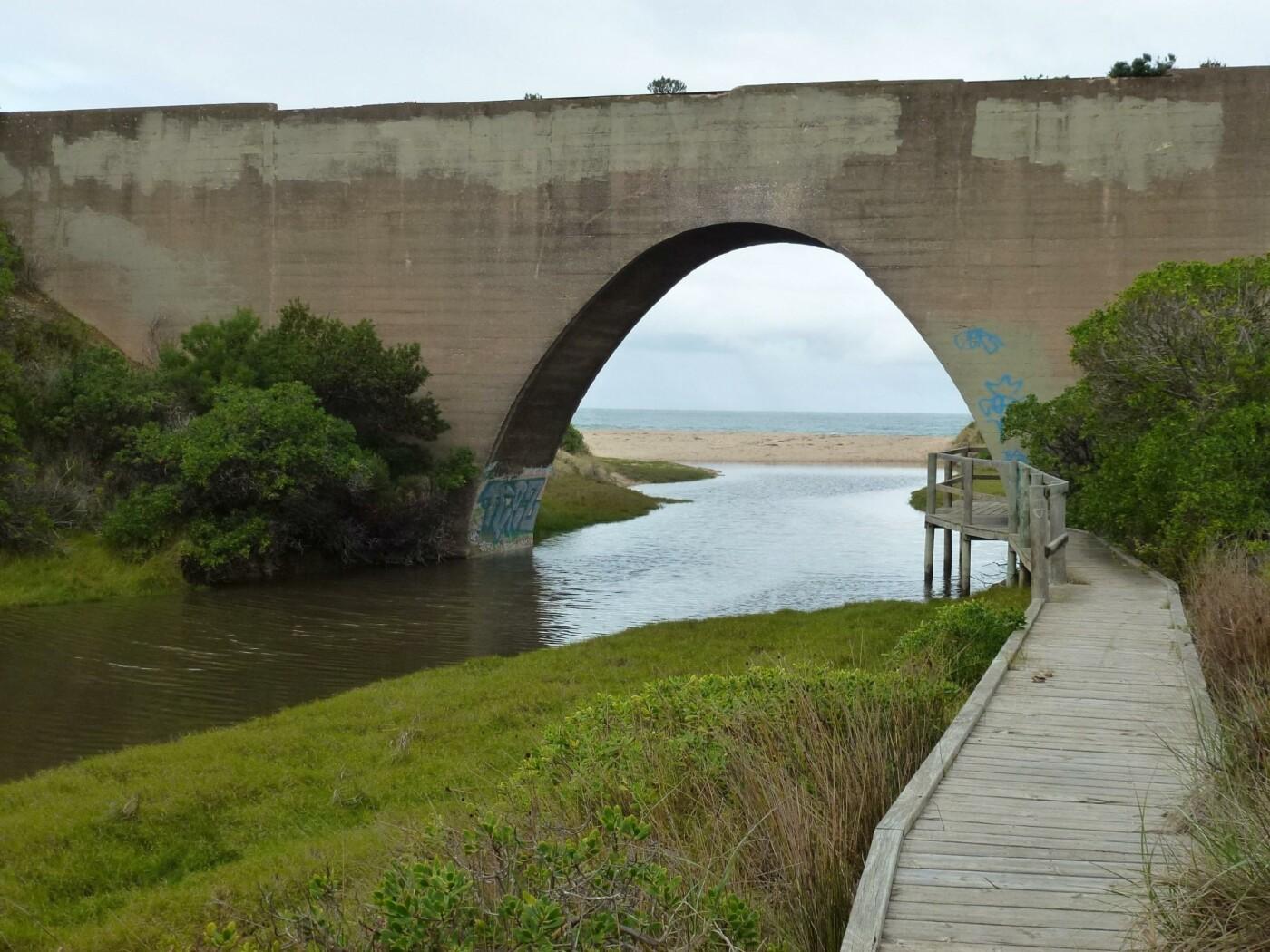 Watson's Gap rail bridge from the bike path 2020