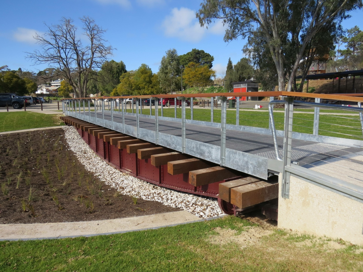 The turntable at the Angaston Station is now a feature of the trail (2020)