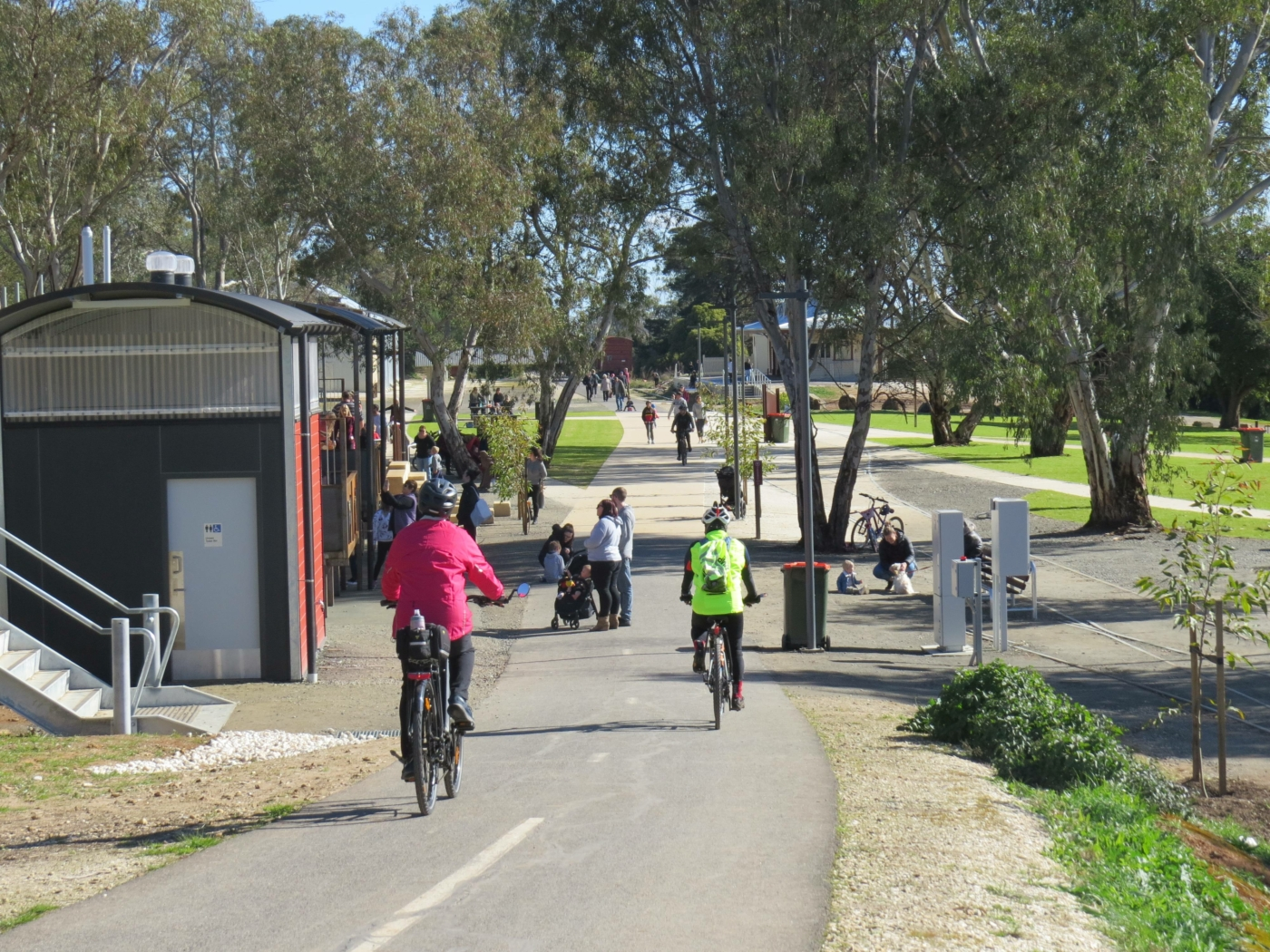 The Angaston station area has been transformed by the Council into a recreation centre for the community (2020)