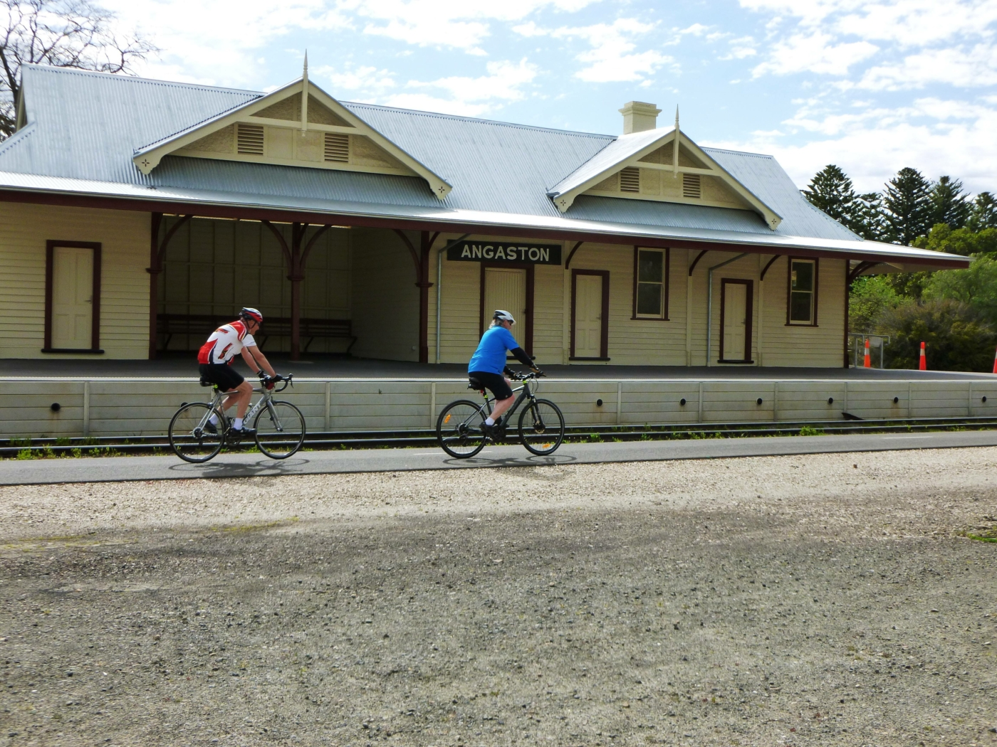 The Angaston station building has also been restored (2020)