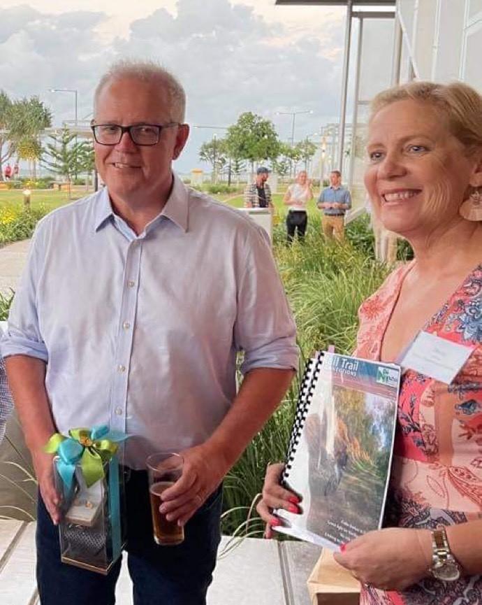 Desley OGrady with Prime Minister Scott Morrison in Gladstone 2021 01 Desley