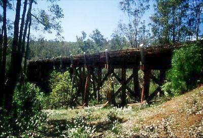 Restored trestle bridge near Dwellingup. William Bebbington