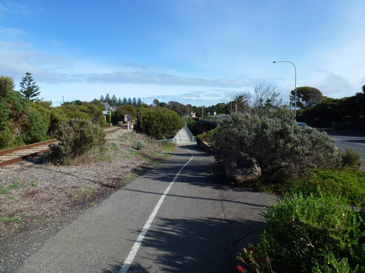 A bridge crossing on the trail near Victor Harbour