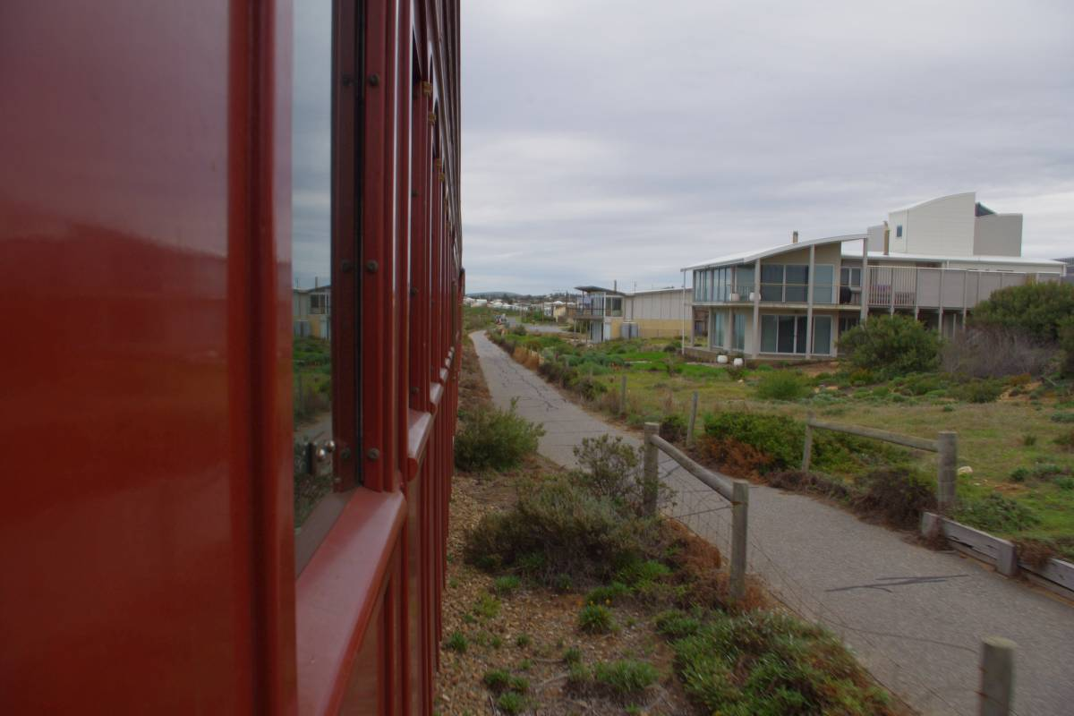 The trail from the Cockle Train near Victor Harbour