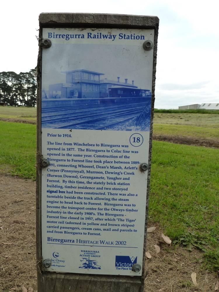 Interpretative sign at Birregurra end of trail (2011)