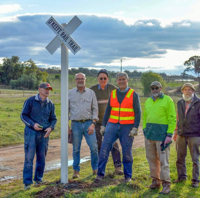 New Whistle Posts for the O'Keefe Rail Trail (Victoria)