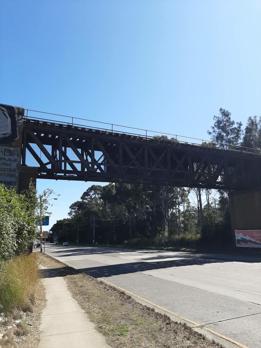 Disused rail bridge over Parramatta Road