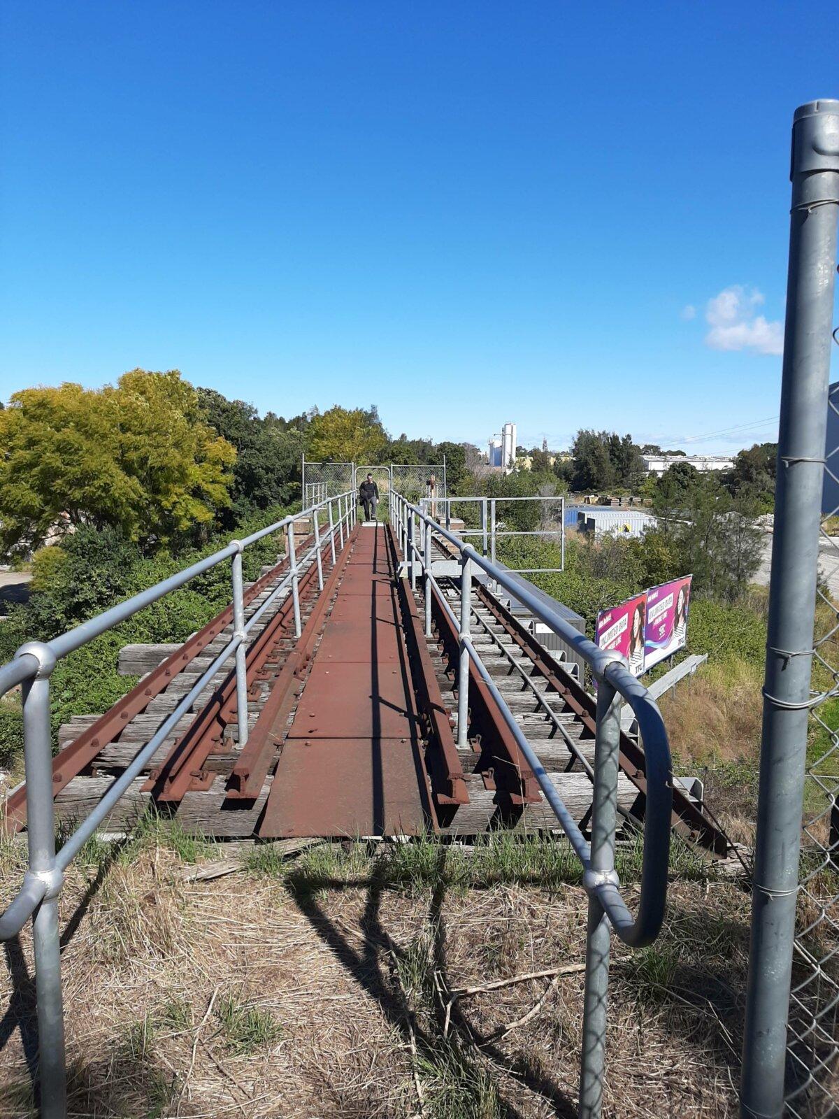 Disused Pippita railway line, facing south near Parramatta Road