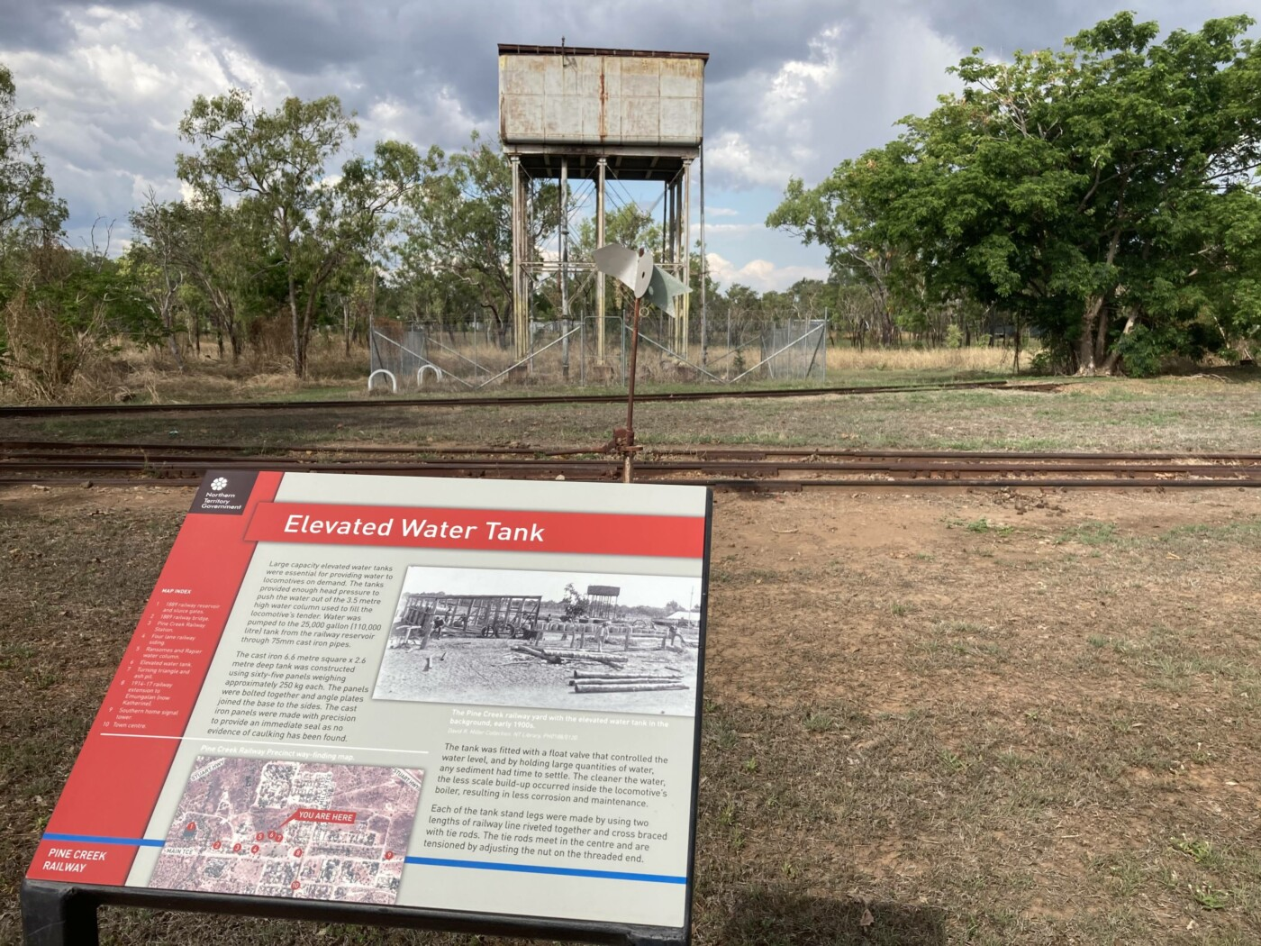 Elevated Water Tank and signage (2020)
