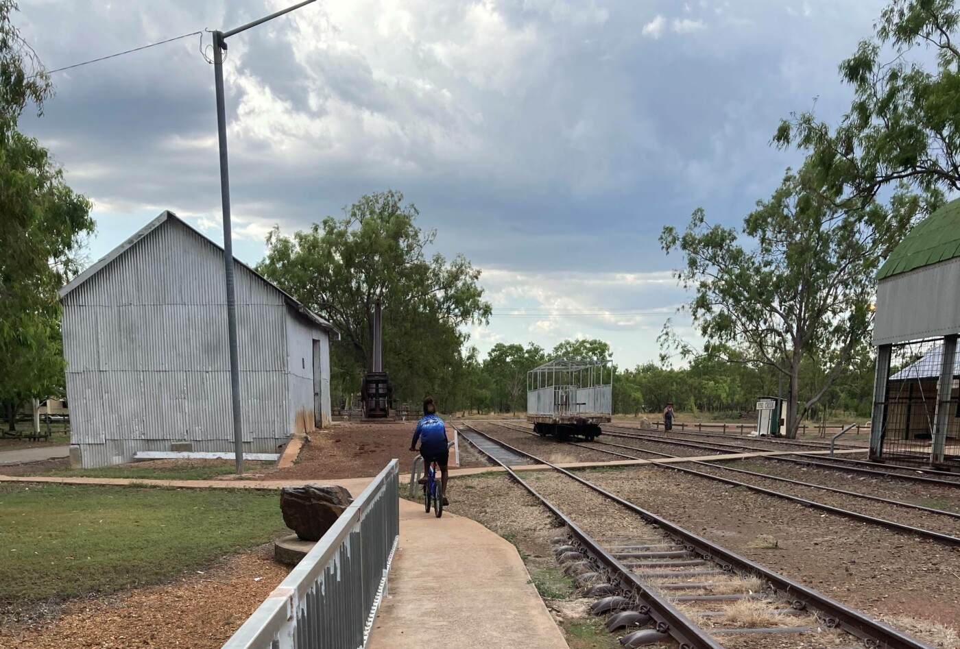 Old rail shed and lines (2020)