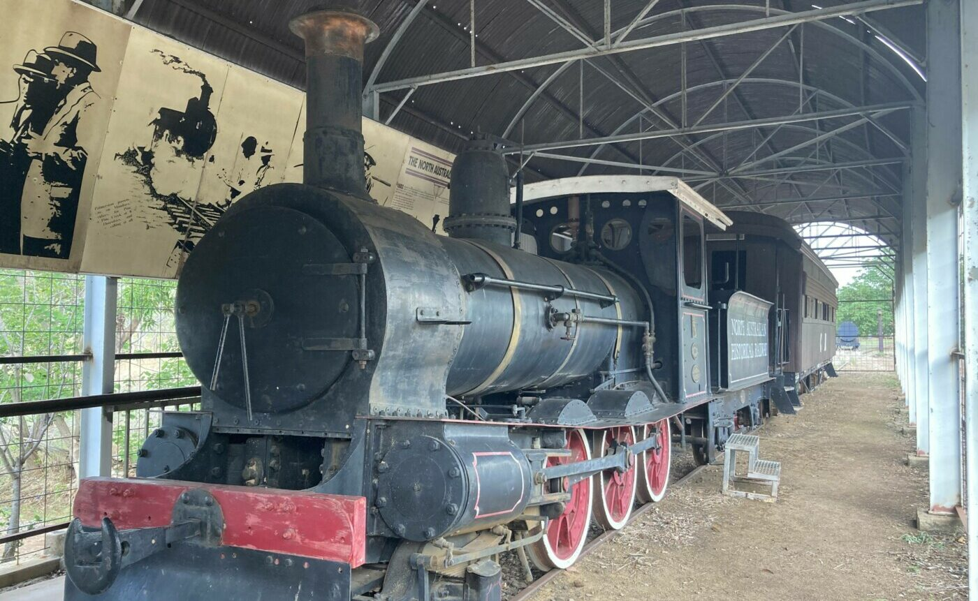 Operational 1877 Beyer Peacock NF class steam locomotive at the museum (2020)