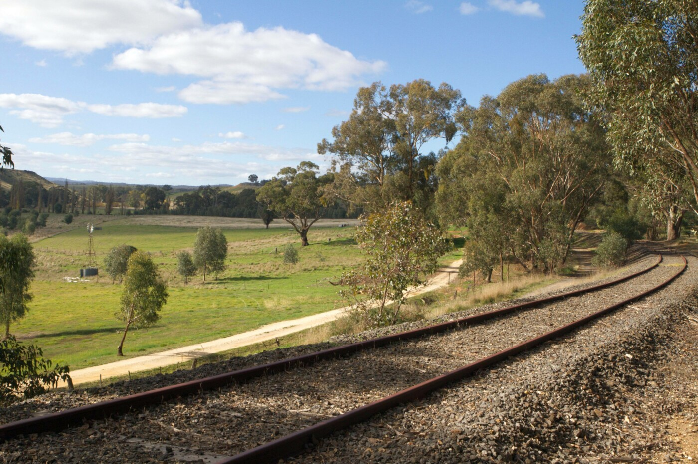 Back up Campbells Creek Valley from Guildford CMRT (2020)