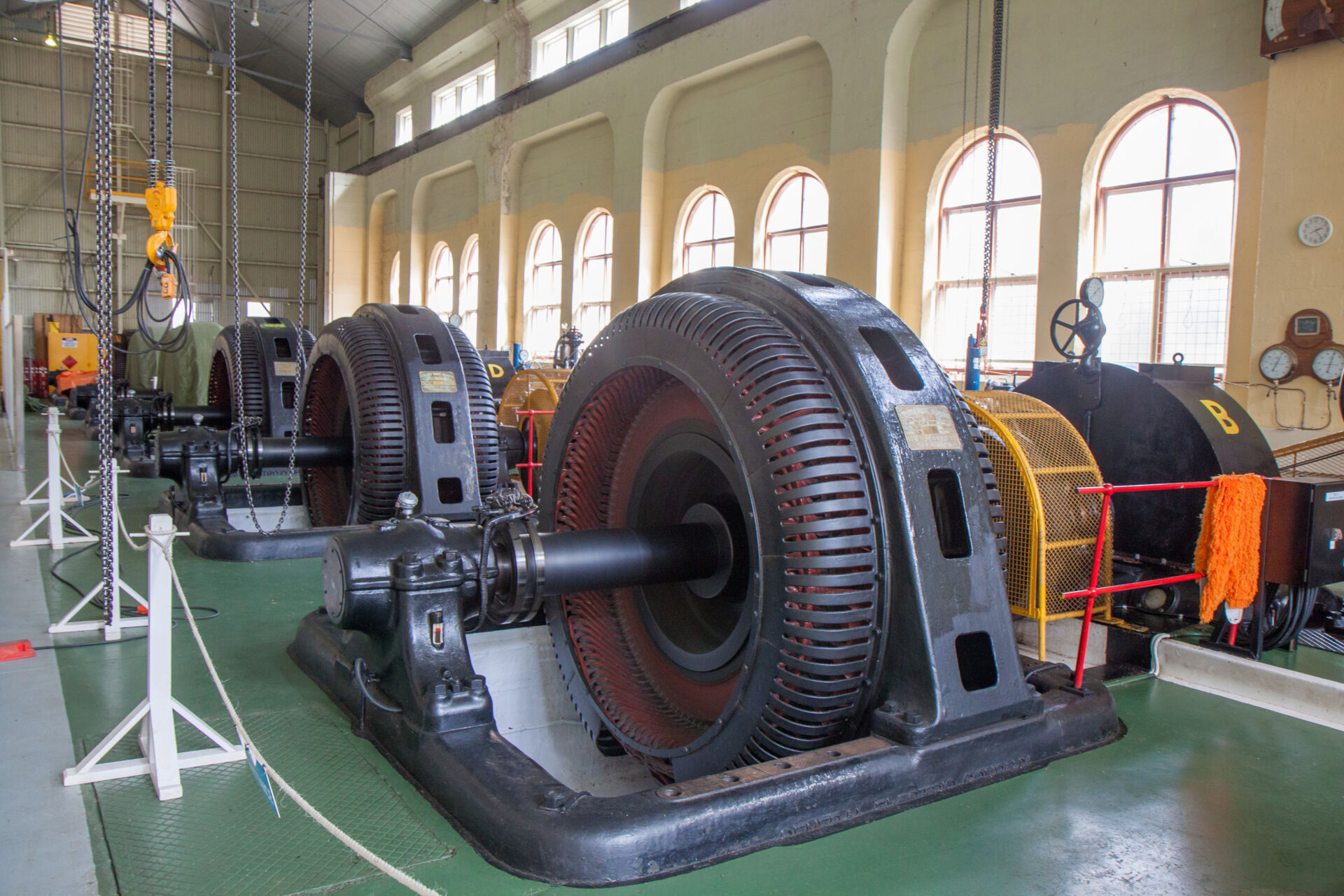 Inside the power station.