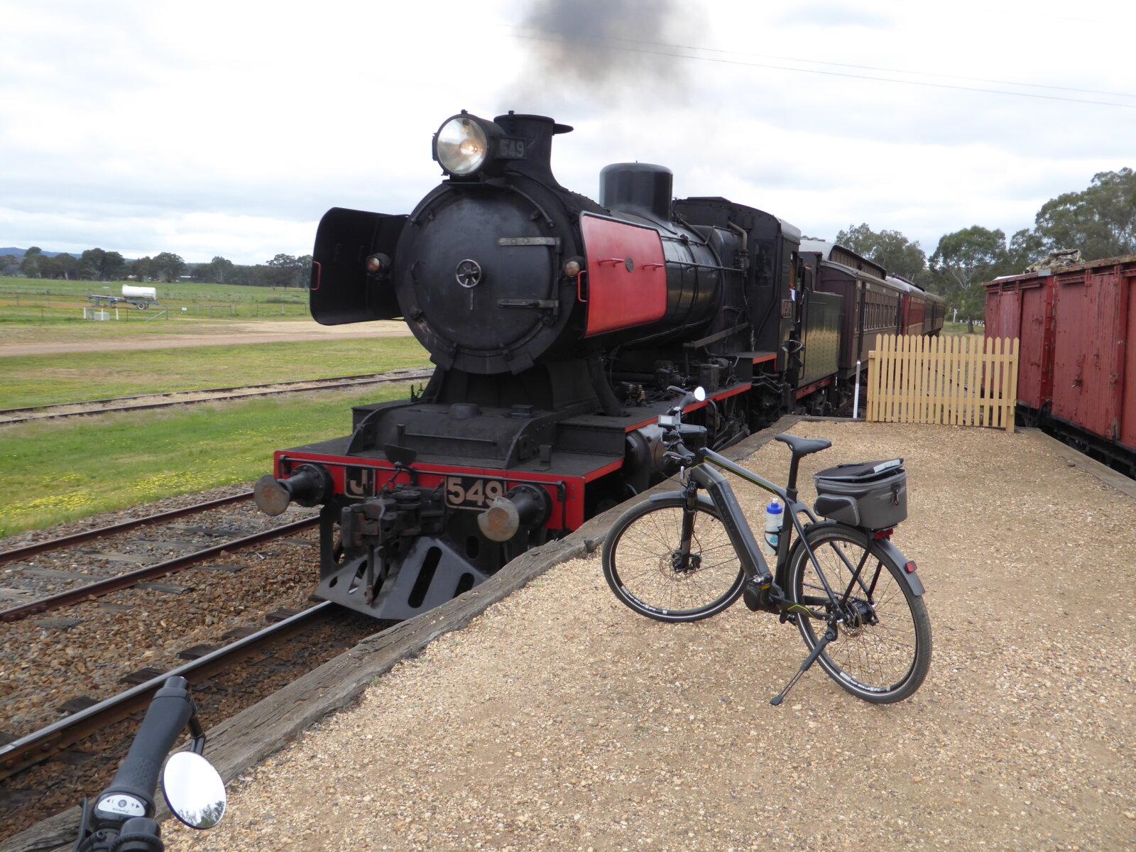 Train at Muckleford station