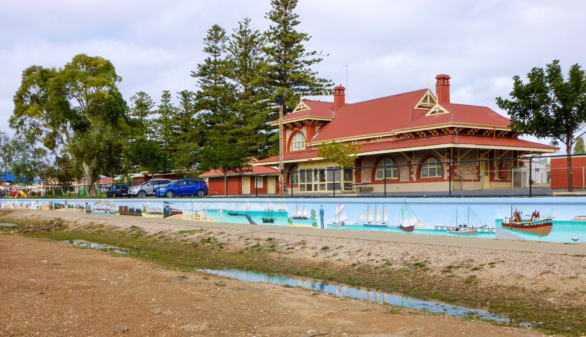 The former Wallaroo station is well preserved and part of the community [2021]