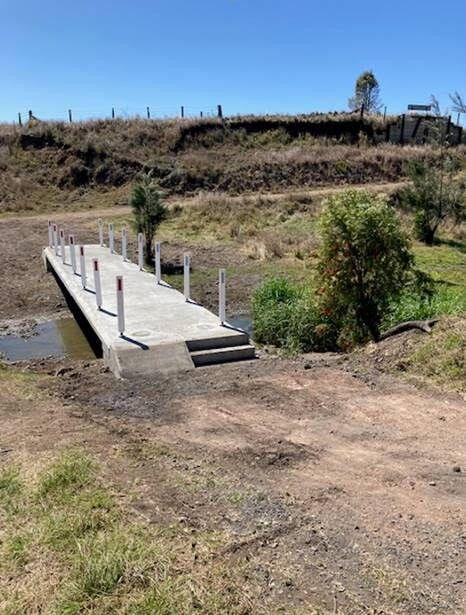 New bridge at water crossing on Kilkivan to Kingaroy