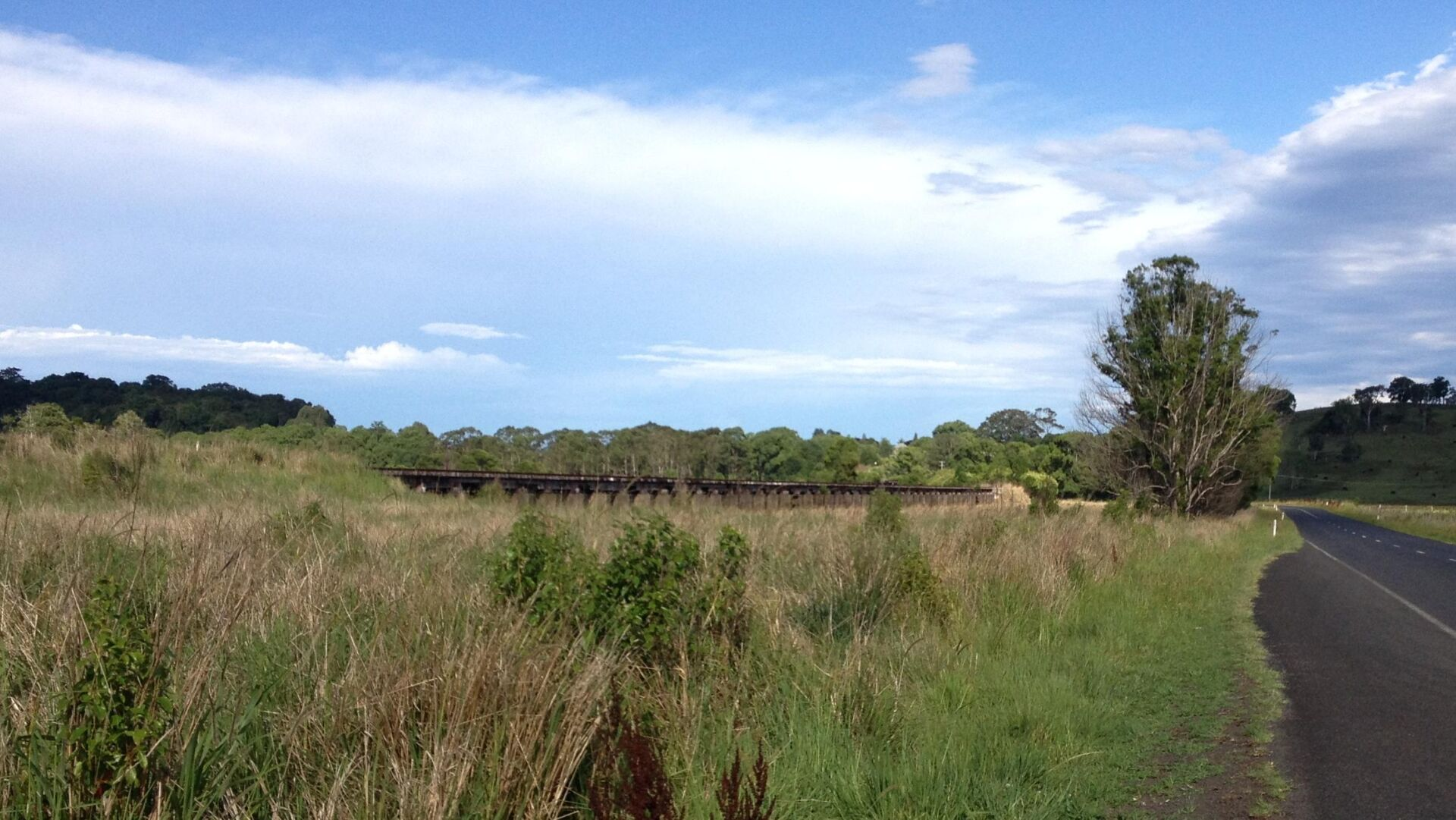Long flood plain bridges near Eltham will keep users off the highway in the future (2013)