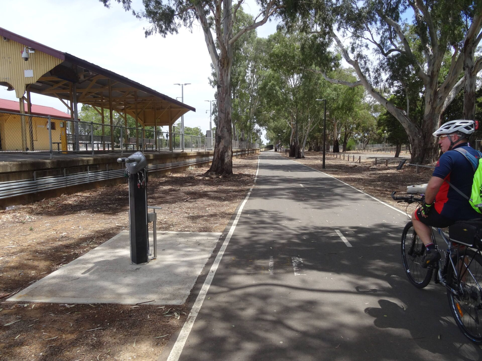 bike repair station adjacent to the Woodville Station